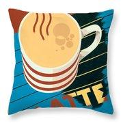 Latte Throw Pillow
