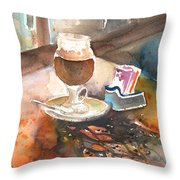 Latte Macchiato In Italy 02 Throw Pillow