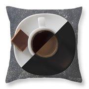 Latte Or Espresso Throw Pillow