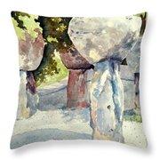 Latte Stone Throw Pillow