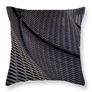 Lattice Curves Throw Pillow