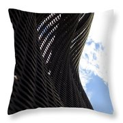 Lattice With Blue Sky And Clouds Throw Pillow