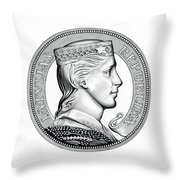 Latvia Crown Throw Pillow by Fred Larucci