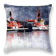 Lauda Vs Hunt Brazilian Gp 1976 Throw Pillow