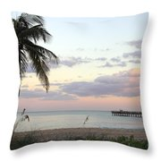 Lauderdale By The Sea Florida Sunset Throw Pillow