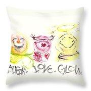 Laugh Love Glow Throw Pillow