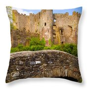 Laugharne Castle Throw Pillow