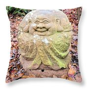 Laughing Forest Buddha Throw Pillow