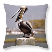 Laughing Pelican Throw Pillow