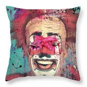 Laughter I Purge  Throw Pillow
