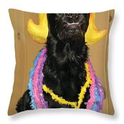 Laughter Yoga For Dogs Throw Pillow