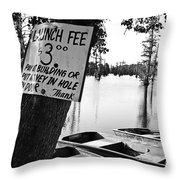 Launch Fee -bw Throw Pillow