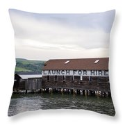 Launch For Hire Throw Pillow