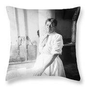Laundress, C1918 Throw Pillow