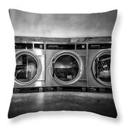 Laundromat Art Throw Pillow