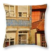 Laundry Day In Porto - Photo Throw Pillow