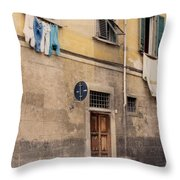 Laundry Day In Verona Throw Pillow