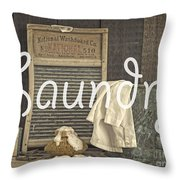 Laundry Room Sign Throw Pillow