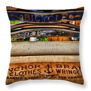 Laundry The Clothes Wringer Throw Pillow