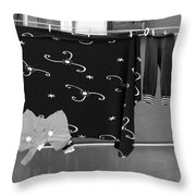 Laundry Vii Black And White Venice Italy Throw Pillow