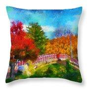 Laura Bradley Park 1922 Japanese Bridge 02 Throw Pillow