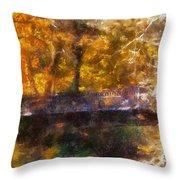 Laura Bradley Park Foot Bridge 02 Throw Pillow