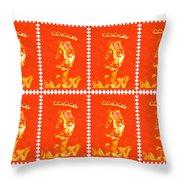 Stamps Throw Pillow