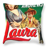 Laura Throw Pillow by MMG Archives
