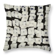 Laura Series Making Marks 545d1 Throw Pillow