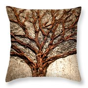 Laura Silver Lining Throw Pillow