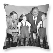 Laurel And Hardy In Ireland Throw Pillow