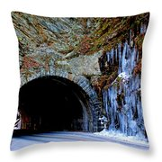 Laurel Creek Road Tunnel Throw Pillow