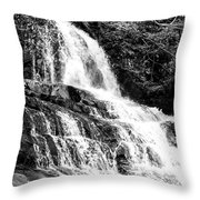 Laurel Falls Smoky Mountains 2 Bw Throw Pillow