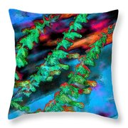 Laurel Fence 3 Throw Pillow