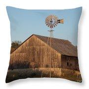 Laurel Road Barn Throw Pillow