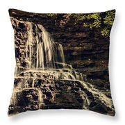 Laurel Run Falls Throw Pillow