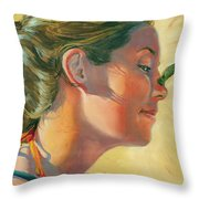 Lauren With Pollywog Throw Pillow