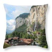 Lauterbrunnen Throw Pillow