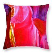 Lava Floe  In Lower Antelope Canyon In Lake Powell Navajo Tribal Park-arizona  Throw Pillow