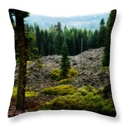 Lava Flow Frozen In Time Throw Pillow