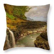 Lava Inlet Throw Pillow
