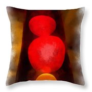 Lava Lamp Photo Art 04 Throw Pillow