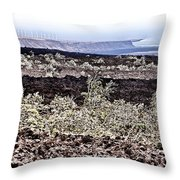Lava Landscaped Throw Pillow