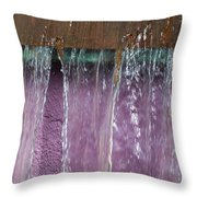 Lavendar Falls Throw Pillow