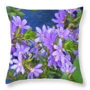 Lavendar Melody Throw Pillow