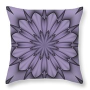 Lavender Abstract Flower Throw Pillow