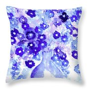 Lavender And Blue Impressions Of Spring Throw Pillow