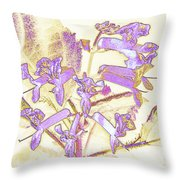 Lavender And Gold Throw Pillow