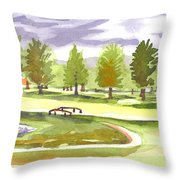 Lavender And Green Throw Pillow