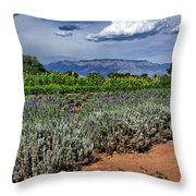 Lavender And Sunflowers Throw Pillow
